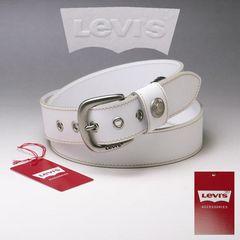 LEVI'S リーバイス 牛革 ベルト 40mm 6091 ホワイト 新品 本物 送料無料