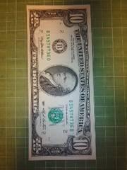 アメリカ旧10ドル紙幣(1993年B券)♪