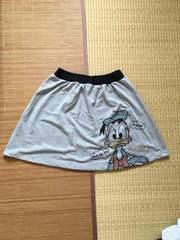 ディズニー・ドナルドダック柄スウェット素材スカート