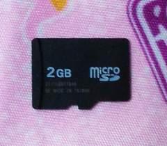 中古△ノーブランド マイクロ2GB microSD2GB バルク品 おまけ付