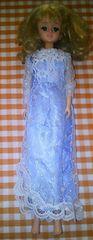青いドレスを着たタカラ初代ジェニー人形ドール本体廃盤品