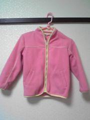 ピンク×イエロー フリースジャンパー