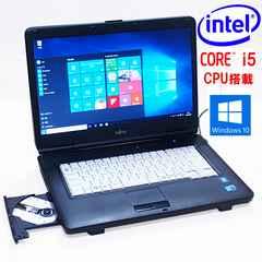 決算特価15.6型Core i5 LIFEBOOK A550 Win10 DVD書込 無線 保証
