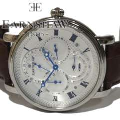 美品【4カレンダー】EARNSHAW 美しい メンズ腕時計