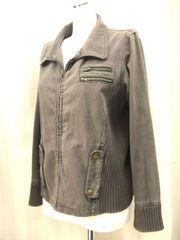 【GRAND ECRU】チャコールのジップデニムジャケット