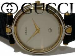 良品 1スタ★グッチ/Gucci【スイス製】4500M メンズ腕時計★