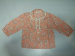 Micky Starミッキースター赤ちゃん子供服シャツリボン柄日本製90