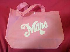 MARSレアショッパー ピンク×ホワイトロゴ