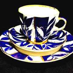 ロモノーソフインペリアルポセレーンカップソーサー&ケーキ皿1