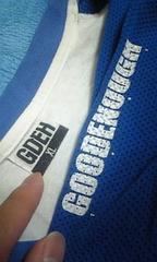 ◆GOODENOUGH(グッドイナフ)/白×青/フラグメントSOPH好き/袖メッシュロンT