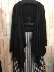 新品☆5L薄手ロングカーディガンときれいめマキシスカートs184