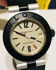 良品ブルガリアルミニウムボーイズ時計AL32TAラバーベルト稼働品