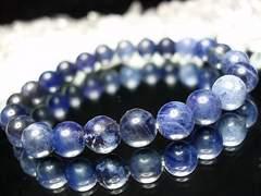 天然石3Aソーダライト約8.5ミリ前後23粒数珠ブレス