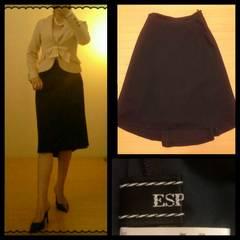 ESPIE☆控えめ 後ろ下がり サラッと上質 大人膝丈スカート 38