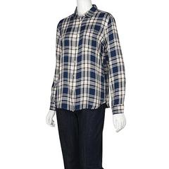 GU チェックシャツ ラメ ジーユー サイズM