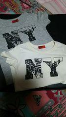 色違い☆*Tシャツ☆2枚セット*グレー&オフホワイトsize80