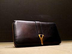 男女可◆SAINTLAURENT サンローラン ラウンドZip レザー 長財布
