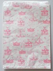 B5が余裕で入る平袋☆メリーゴーランドPK30枚★R20サイズ紙袋