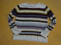 ボーダー柄セーター:Mサイズ