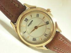 3452/renomaレノマ一流ブランド高級ゴールドケース★レディース腕時計