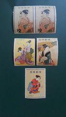 浮世絵【未使用記念切手】趣味週間