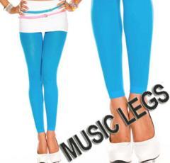 A189)MUSICLEGSレギンスオペークタイツターコイズGOGOダンサーダンス衣装ストッキング