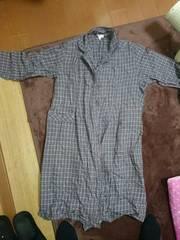 マタニティー パジャマ 長袖 前ボタン 授乳窓付き Lサイズ