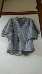 春物ストライプシャツ4XL