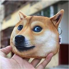 ☆かわいい柴犬☆ 3D立体プリント 小銭入れ ポーチ 送料無料