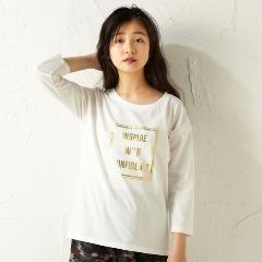 新品大きいサイズドロップショルダープリントTシャツオフホワイト8L