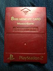 赤色のプレステ2用8Mメモリカード