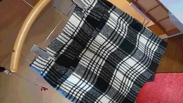 LOWRYS FARM  ウール混  チェック柄  ミニスカート