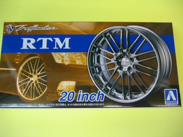 アオシマ 1/24 ザ・チューンドパーツ No.38 トラフィックスター RTM 20インチ 極タイヤ  < ホビーの