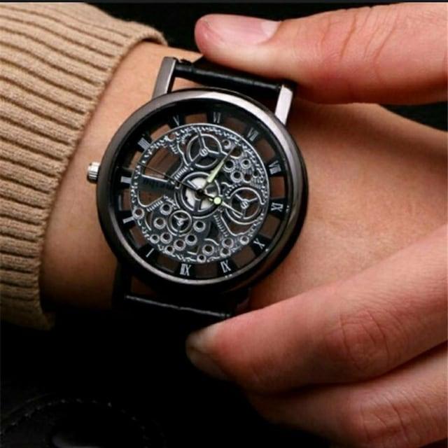 新品 激渋 腕時計 スケルトン 黒 < 男性アクセサリー/時計の