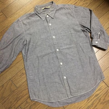 美品JOURNAL STANDARD レザー使用シャンブレーシャツ ジャーナル