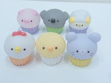 アニマル カップケーキ(ニワトリ.ヒヨコ.ネズミ.ブタ.コアラ.ヒツジ)セット