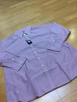 EX STYLE  ボタンダウンストライプYシャツ  ワイン白  size6L  XXLくらいです。