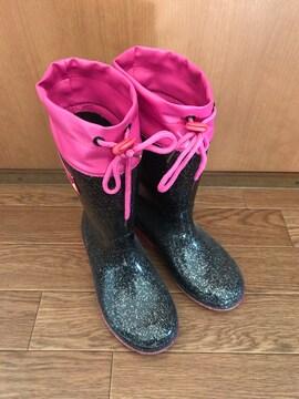 美品 person's パーソンズキッズ レインブーツ長靴 20