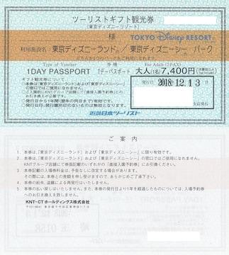 大人2枚ペア ディズニーチケット引換券パスポート(混雑可)
