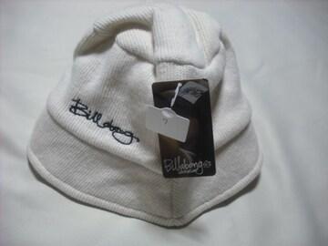 wn07 女 BILLABONG ビラボン 白 ウールニット ハット Mサイズ