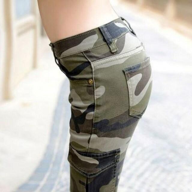 29インチ(Lサイズ)★カモフラージュパンツ < 女性ファッションの