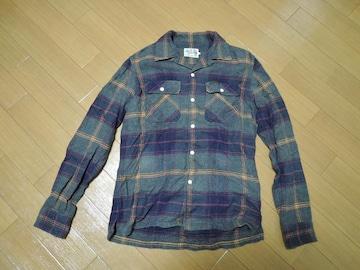 ヒステリックグラマーHysteric GlamourチェックネルシャツS灰系