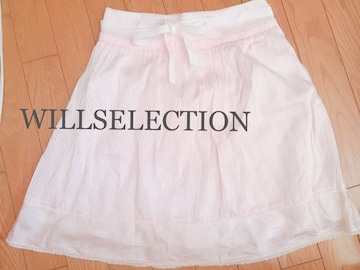 定価12,960円 WILLSELECTION ストライプリボンフレアスカート