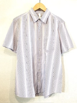 TAKEO KIKUCHI■シャツ■ストライプ■タケオキクチ■薄紫