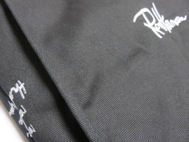 Ron Herman/ロンハーマンロゴ刺繍・キャンパス*トートバッグブラック < ブランドの