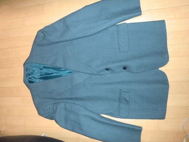 ★処分価額★紳士毛100%上質背広シングルジャケット格安★切手  < 男性ファッションの