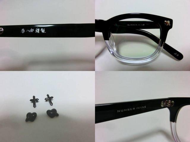 ナンバーナイン眼鏡サングラス ×泰八郎謹製  クリアー < 男性ファッションの