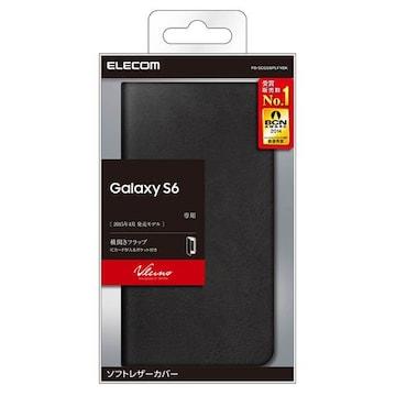 docomo GALAXY S6 SC-05G用ソフトレザーカバー ブラック