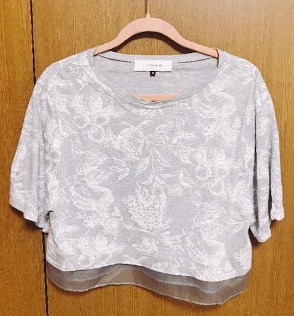 ЩЯ】�@ルッシェルブルー重ね着風 Tシャツ 38サイズ フルーツ柄  < ブランドの