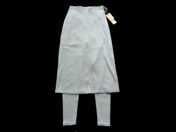 新品 rps レギンス付き テレコ ロング スカート ミモレ丈